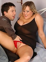Big juggs British babe Leah Jayne riding prick cowgirl style